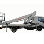 Presented at APEX 2017 the new telescopic truck-mounted platform of the CMC Road line.
